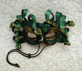 Green Medusa Mask 2013 by merimask