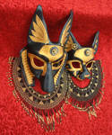 Industrial Anubis and Bast Masks