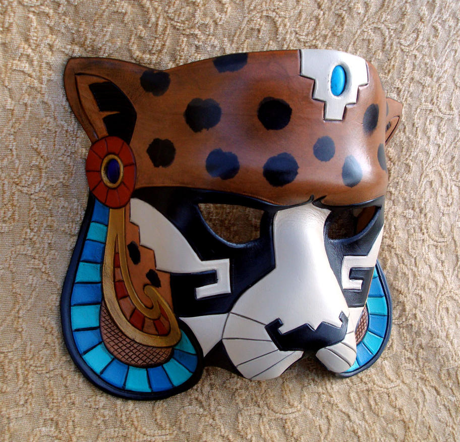 Mayan Jaguar mask #1 by merimask