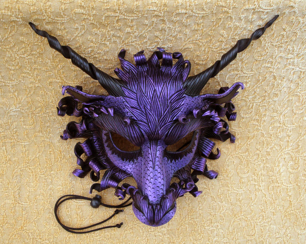 Great Purple Dragon Mask by merimask