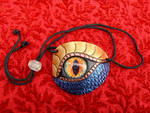 Gold-blue Dragon Eye Patch