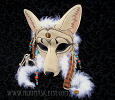 Winter Spirit... Coyote Mask by merimask