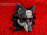 Regal Dire Wolf silver on black leather
