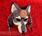 Celtic Raven Wolf Mask 1