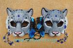 Mountain Spirit: Snow Leopard Masks by merimask