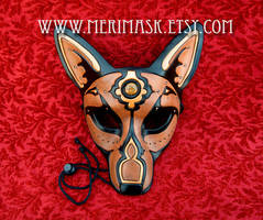 Jeweled Wolf Leather Mask 2014 by merimask