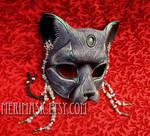 Jade Moonstone Cat Mask