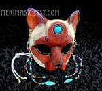 Turquoise Amethyst Siamese Cat Mask 1