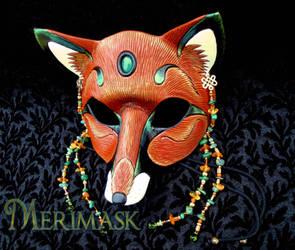 Amber Jade Fox Mask by merimask