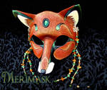 Amber Jade Fox Mask