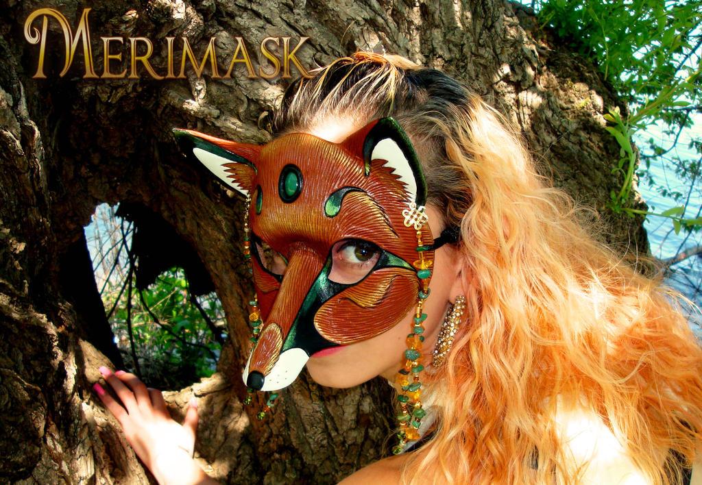 Melissa wearing Amber Jade Fox by merimask