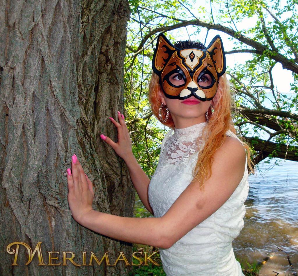 Melissa wearing Persian Cat by merimask