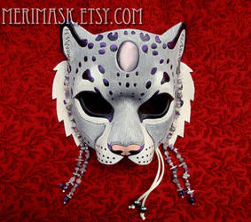 Amethyst Moonstone Snow Leopard Mask