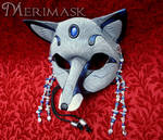 Moonstone Lapis Gray Fox Mask
