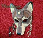 Tawny Jasper Labradorite Wolf Mask
