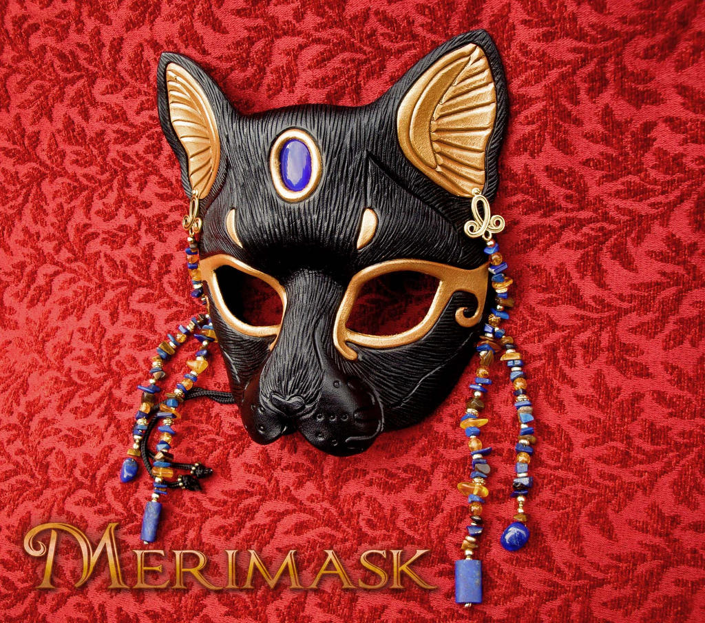 Beaded Bast Mask by merimask