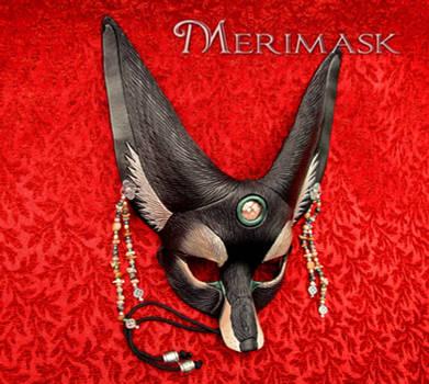 Black Jasper Fennec Fox Mask by merimask