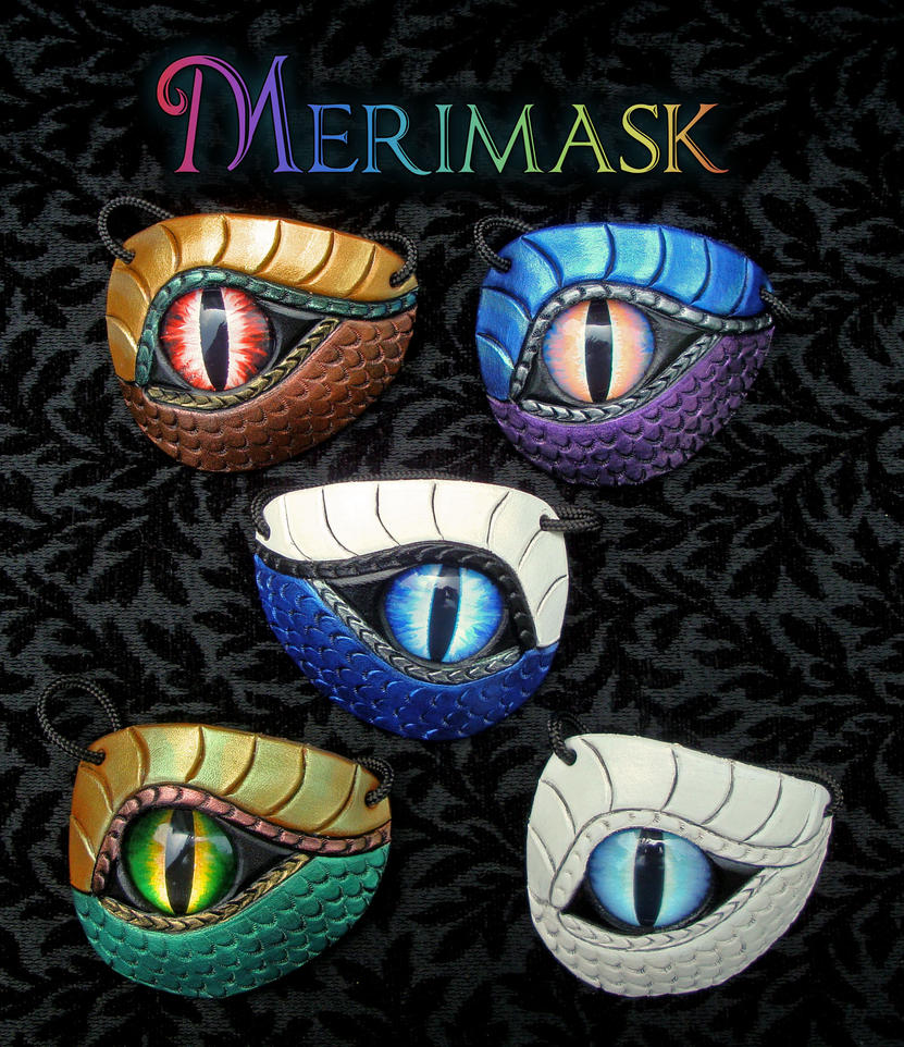Five Leather Dragon Eye Patches by merimask
