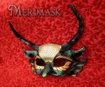 Feathered Basilisk Leather Dragon Mask