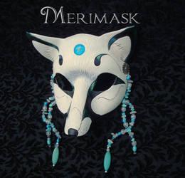 Turquoise Moonstone Fox Mask by merimask