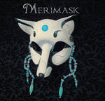 Turquoise Moonstone Fox Mask
