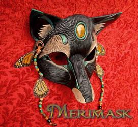 Black Monarch Fox Mask
