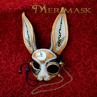 Steampunk rabbit with monocle by merimask