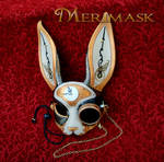 Steampunk rabbit with monocle