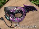 Purple Teal Dragon Mask