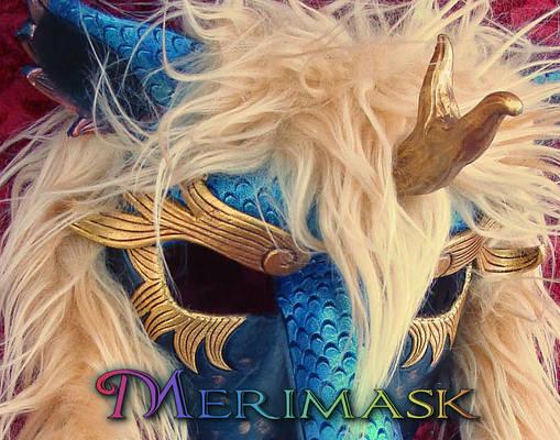 Kirin mask with Fur up close