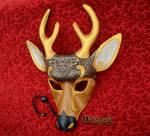 Venetian Deer Leather Mask