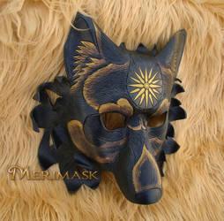 Sunburst Dire Wolf Mask