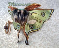 Luna Moth Leather Mask by merimask