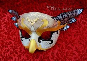 Venetian Owl Mask #1 by merimask