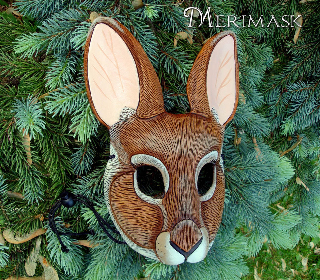 Cottontail Rabbit Mask by merimask
