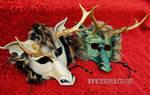 Locked Horns...frilled eastern dragon masks