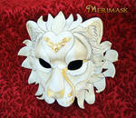 Regal Lion...Ivory and Gold
