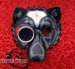 Steampunk Wolf Leather Mask