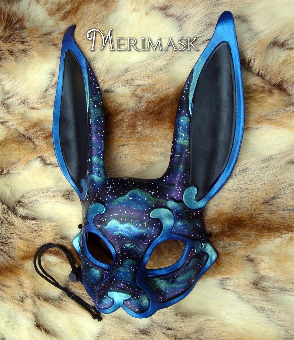 Galactic Rabbit Mask by merimask