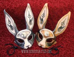 Leather Clockwork Hare Masks