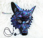 Starry Night Wolf, Leather Mask