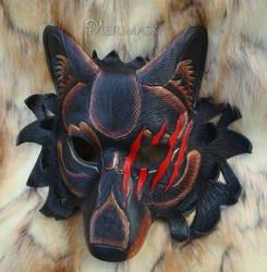 Werewolf Leather Mask by merimask