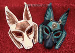 Colorful Anubis Leather Masks by merimask