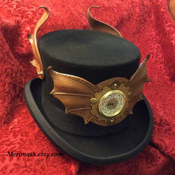 Steampunk Top Hat, Draco Temporis by merimask