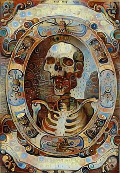 Skeleton Portrait 1 (Red)