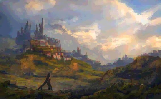 Lo-Fi Landscape (pixel art style)