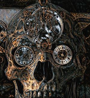 Cosmic String Clockwork Skull