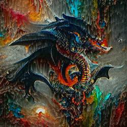 Obsidian Dragon (Abstract)