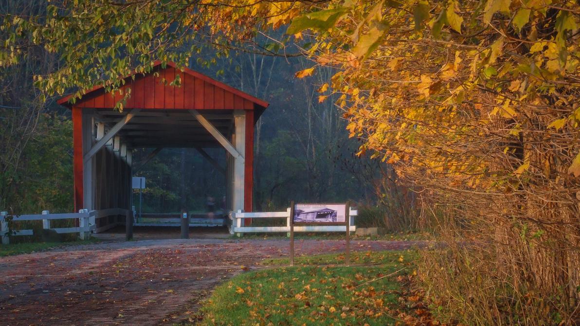 Covered Bridge - Autumn by JJonesJr69