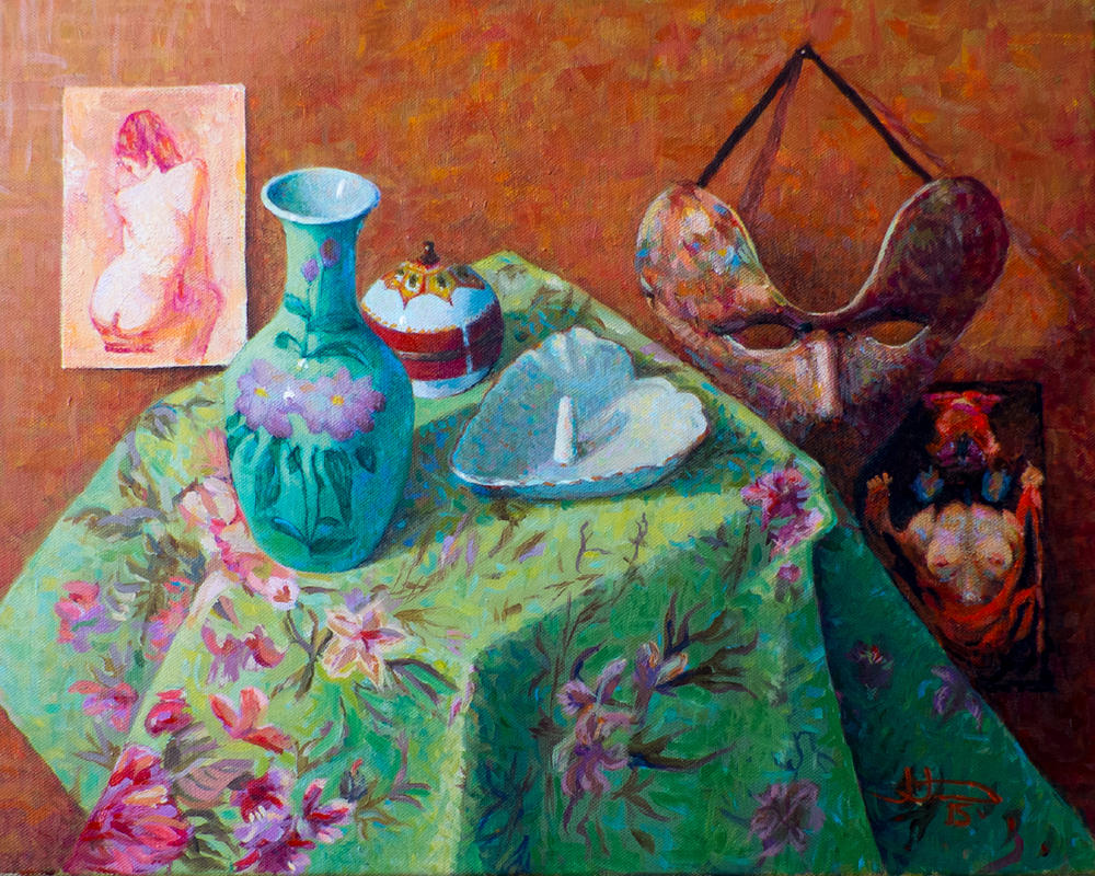 STILL LIFE - STUDY IN RED AND GREEN by JJonesJr69